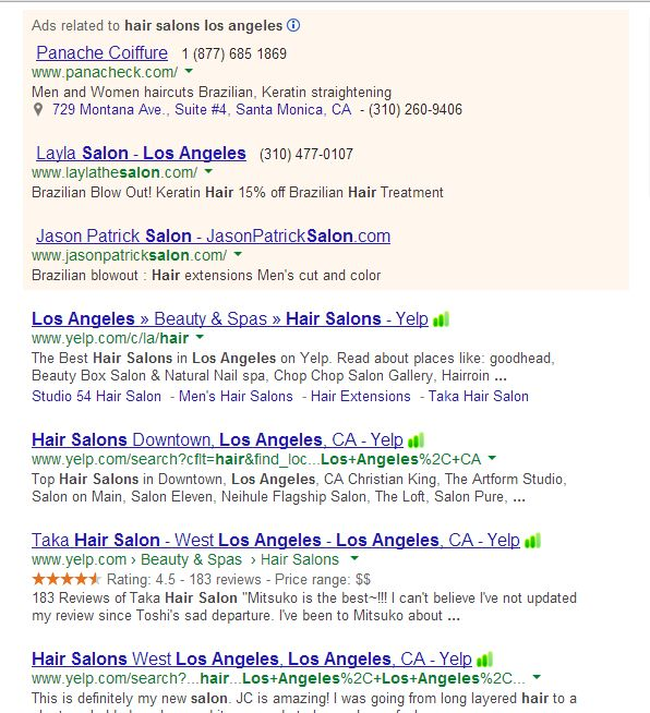hair salons los angeles